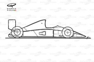 McLaren MP4-6 1991 schematic sideview