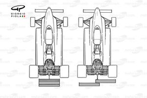 Ferrari 126C2 1982 Long Beach rear wing comparison