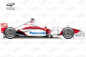 Toyota TF102 2002 side view