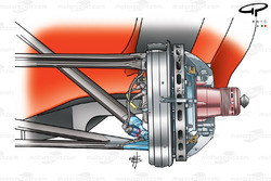 Ferrari F2003-GA (654) 2003, sospensione