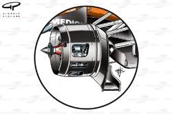 Freins avant de la Force India VJM04