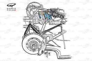 Williams FW21 1999 rear suspension detail