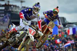 Gautier Paulin, Team Francia, y Tony Cairoli, Team Italia