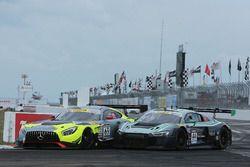 #69 Champ 1 Racing Mercedes AMG GT3: Pablo Pérez Companc, #44 Magnus Racing Audi R8 LMS: John Potter