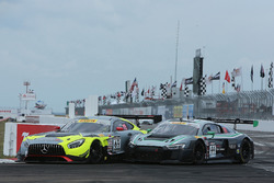 #69 Champ 1 Racing, Mercedes AMG GT3: Pablo Perez Companc; #44 Magnus Racing, Audi R8 LMS: John Pott