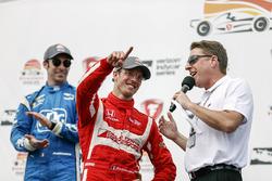 Race winner Sébastien Bourdais, Dale Coyne Racing Honda celebrating