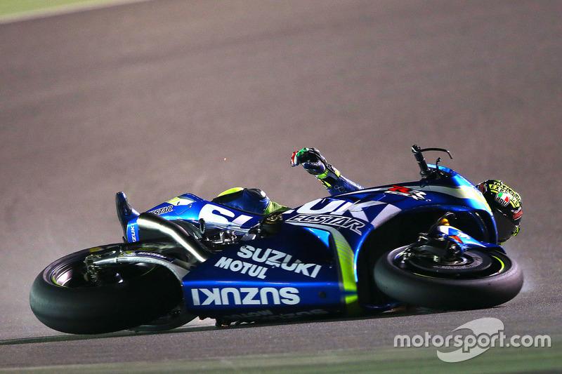 Choque de Andrea Iannone, Team Suzuki MotoGP