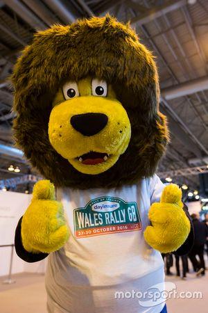 Das Maskottchen der Rallye Wales-GB
