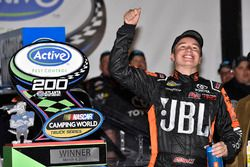 Christopher Bell, Kyle Busch Motorsports Toyota celebrates his win in Victory Lane