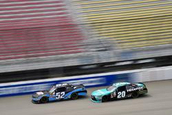 Joey Gase, Jimmy Means Racing Chevrolet and Denny Hamlin, Joe Gibbs Racing Toyota