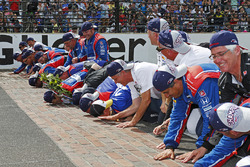 Takuma Sato, Andretti Autosport Honda kust de 'brickyard' met zijn teamgenoten