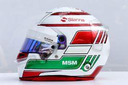 The helmet of Antonio Giovinazzi, Sauber