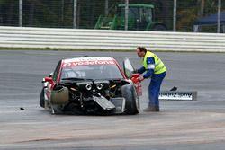 Vanina Ickx, Team Midland, Audi A4 DTM choque