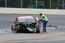 Vanina Ickx, Team Midland, Audi A4 DTM crashes