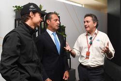 Esteban Gutiérrez, Techeetah, mit Alejandro Agag, Formel-E-Boss