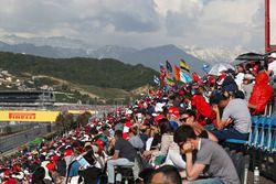 Des fans et l'ambiance en tribunes