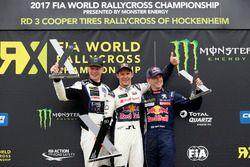 Podium: Winner Mattias Ekström, EKS, Audi S1 EKS RX Quattro, second place Johan Kristoffersson, PSRX