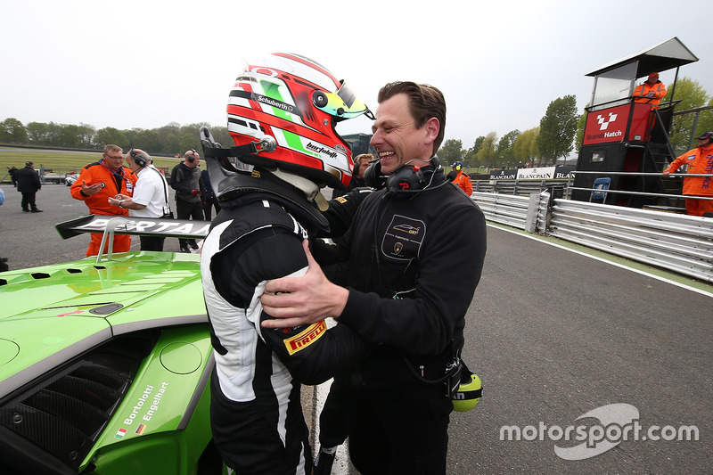 Polesitter Mirko Bortolotti, GRT Grasser Racing Team with team owner Gottfried Grasser