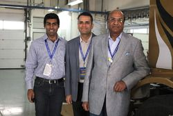 Karun Chandhok with Raghupata Singhania and Anshuman Singhania