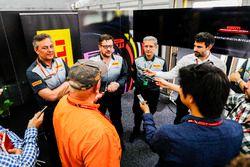 The Pirelli F1 team speak to the media