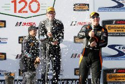 60, Ford, Ford Mustang, GS, Jade Buford, Scott Maxwell, podium, champgne