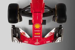 Ferrari SF70H, vista dall'alto del muso