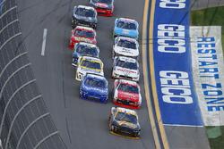 Brendan Gaughan, Richard Childress Racing Chevrolet, Ryan Reed, Roush Fenway Racing Ford and Elliott