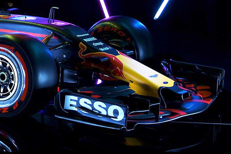 L'avant de la Red Bull Racing RB13