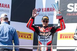 Podium: tweede Chaz Davies, Ducati Team