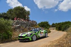 Fabrizio Andolfi Junior, Daniele Mangiarotti, Abarth 124 Rally