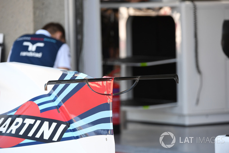 Т-образное крыло Williams FW40