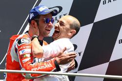 Podium: Danilo Petrucci, Pramac Racing, Claudio Domenicali, Ducati