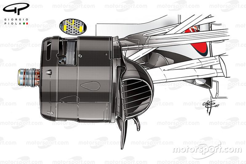 Écope de frein de la Ferrari SF70H