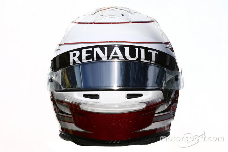 Le casque de Kevin Magnussen, Renault Sport F1 Team