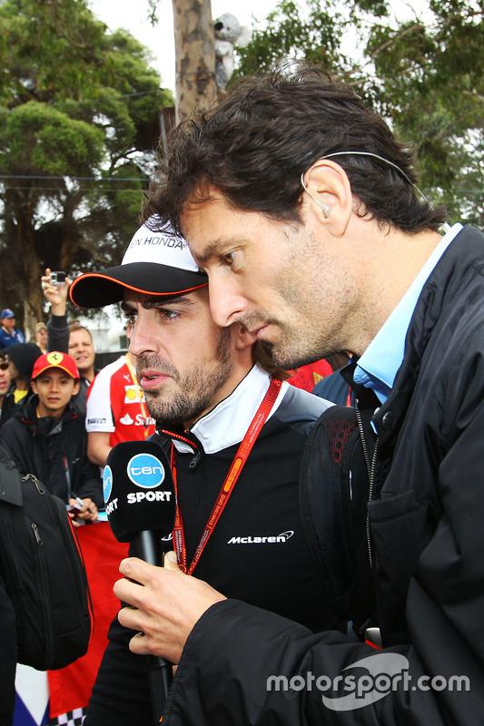 Mark Webber con su amigo Fernando Alonso