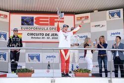 Podio: il Campione Leonardo Pulcini, Campos Racing