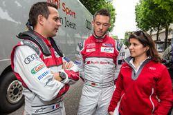 Audi Sport Team Joest: Benoit Tréluyer, Andre Lotterer et l'ingénieur de course Leena Gade