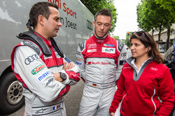 Audi Sport Team Joest: Benoit Tréluyer, Andre Lotterer and race engineer Leena Gade