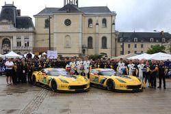 #63 Corvette Racing - GM Chevrolet Corvette C7-R: Jan Magnussen, Antonio Garcia, RickyTaylor; #64 C