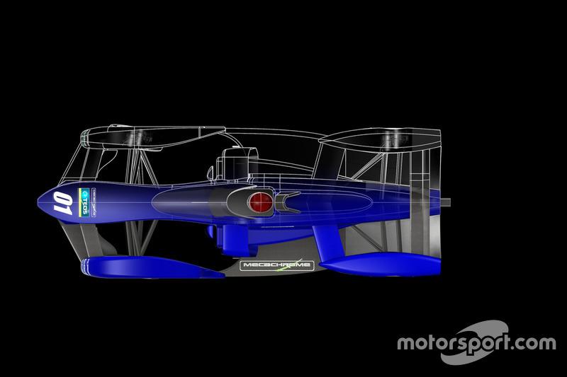 Propuesta de chasis Fórmula E de TEOS