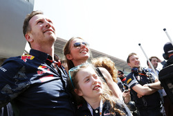 Christian Horner, Red Bull Racing Team Principal with his wife Geri Halliwell, Singer and daughter B