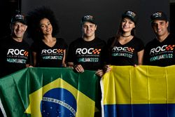 Tony Kanaan, Felipe Massa, Juan Pablo Montoya con le ROC girls
