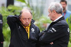 Frédéric Vasseur, directeur de la compétition Renault Sport F1 Team avec Jérôme Stoll, Président Renault Sport F1