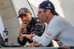 #100 Peugeot: Stéphane Peterhansel and #102 Peugeot: Sébastien Loeb