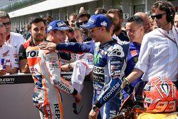Polesitter Marc Marquez, Repsol Honda Team; 2. Jorge Lorenzo, Yamaha Factory Racing