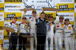 Podium: Sieger #17 KÜS TEAM 75 Bernhard, Porsche 911 GT3 R: David Jahn, Kévin Estre; 2.#29 Montaplas