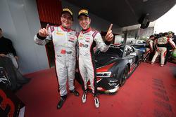 Third place #33 Belgian Audi Club Team WRT Audi R8 LMS: Enzo Ide, Robin Frijns