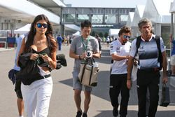 Linda Morselli, girlfriend of Fernando Alonso, McLaren