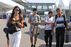 Linda Morselli, novia de Fernando Alonso, McLaren
