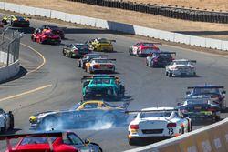 #66 DragonSpeed Mercedes-Benz AMG SLS GT3: Frankie Montecalvo in trouble